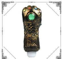 "Load image into Gallery viewer, 5.2"" Thanos Infinity Gauntlet Hand Pipe"
