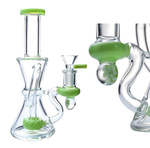 7.8 inch Neon Green Recycler