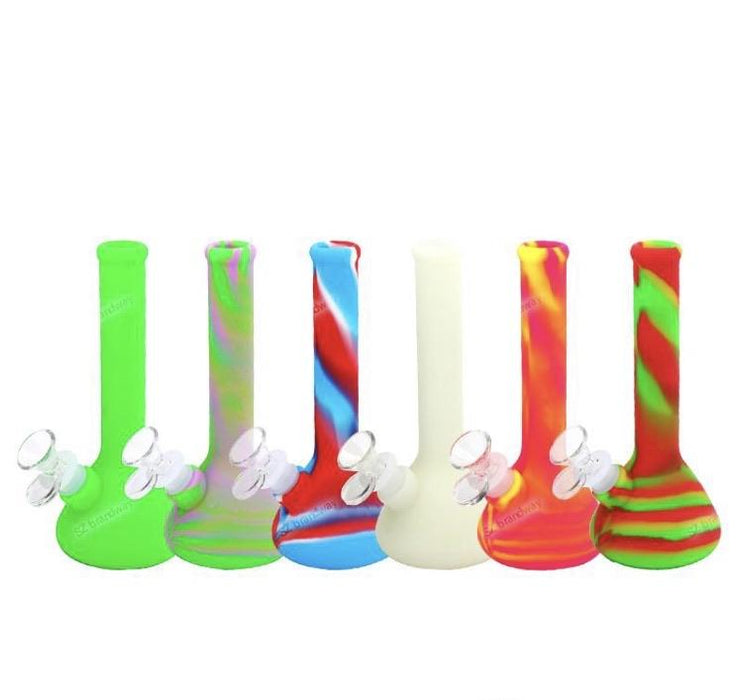 7.5 inch silicone bong multiple colors!