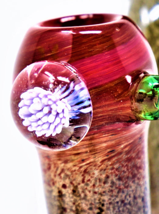 "8"" Handmade Colorful Spiky Bubbler"