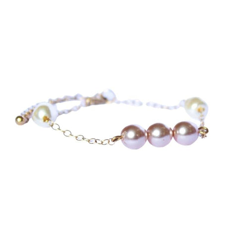 bracelet perle rose gold