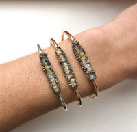 Handmade Rough Opal Chip Bangle - SeekChicCo