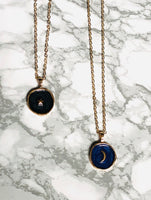 Enamel Moon Necklace - SeekChicCo