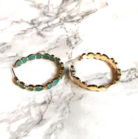 Opal Hoop Earrings - SeekChicCo