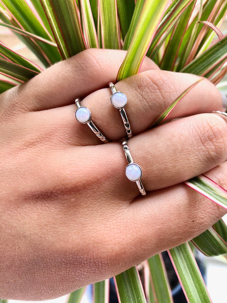 Dainty Opal Ring - SeekChicCo