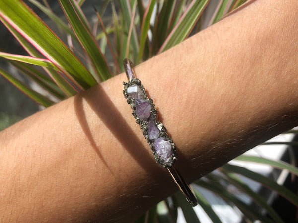 Handmade Amethyst Chip Bangle