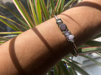 Handmade Amethyst Chip Bangle - SeekChicCo