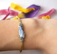 Handmade Kyanite Bangle - SeekChicCo
