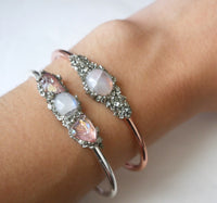 Handmade Moonstone Bangle - SeekChicCo