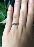 Handmade Dainty Peacock Ore Chip Ring - SeekChicCo