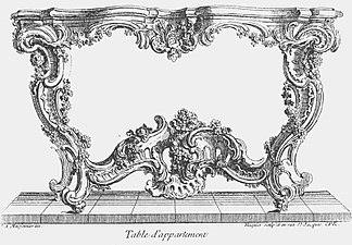 Rococo Table design by Juste-Aurele Meissonier 、1730