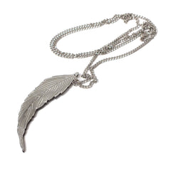 Silver Feather Pendant by Audie Wilkinson