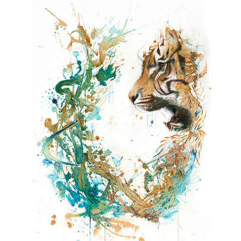 The Tiger Encounter by Carne Griffiths