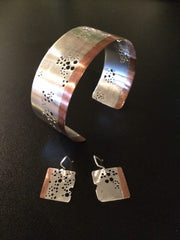 Whau Cuff and Earrings by IV Jewellery