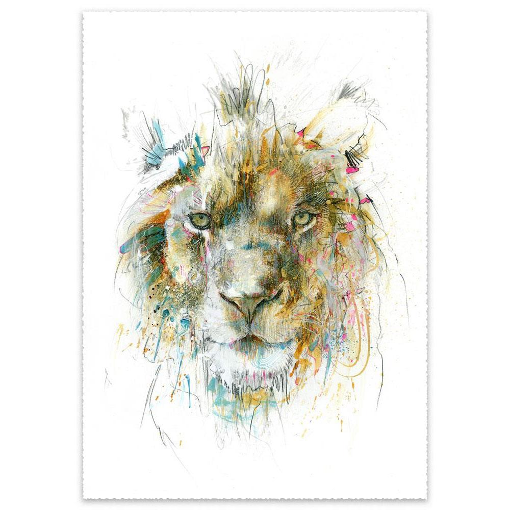 'Lion | Limited Edition' by Carne Griffiths at Quirky Fox