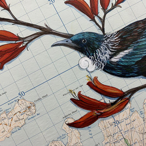 'Lyttelton Tui | Original' by Justine Hawksworth at Quirky Fox