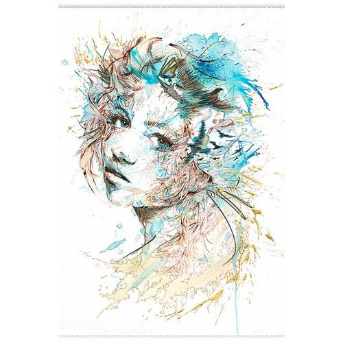 'The Cast | Limited Edition Print' by Carne Griffiths at Quirky Fox