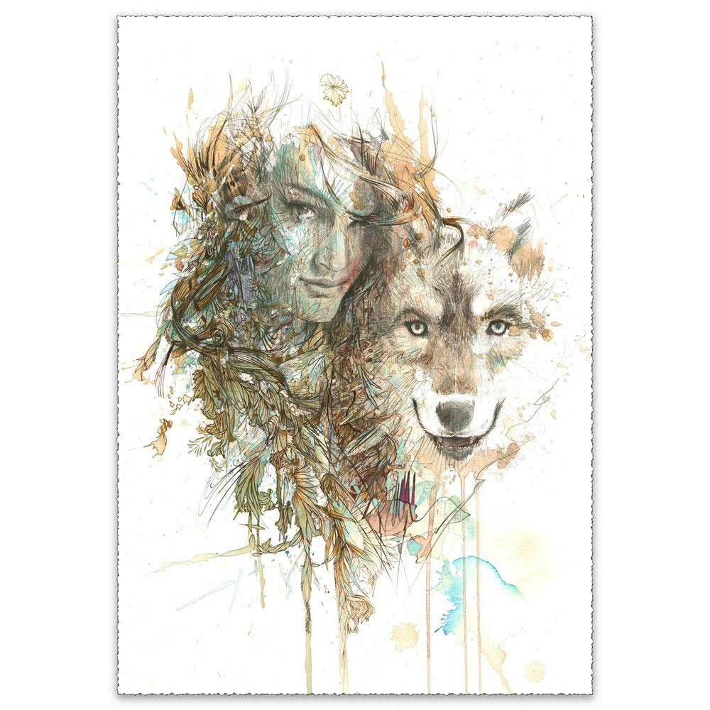 'The Companion | Limited Edition' by Carne Griffiths at Quirky Fox