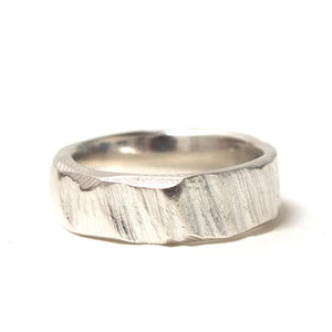 'Wide Bark Ring Sterling Silver | Ring' by Sophie Divett - Quirky Fox