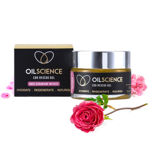 Oil Science rose geranium rescue gel
