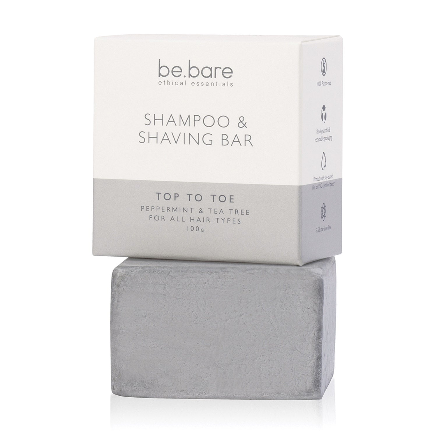 Be Bare Top to Toe Shampoo & Shaving Bar