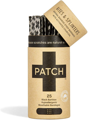 Activated charcoal adhesive bandages - tube of 25