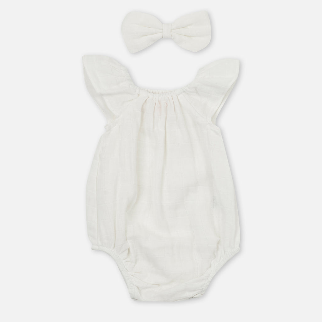 Muslin Sunsuit - Coconut