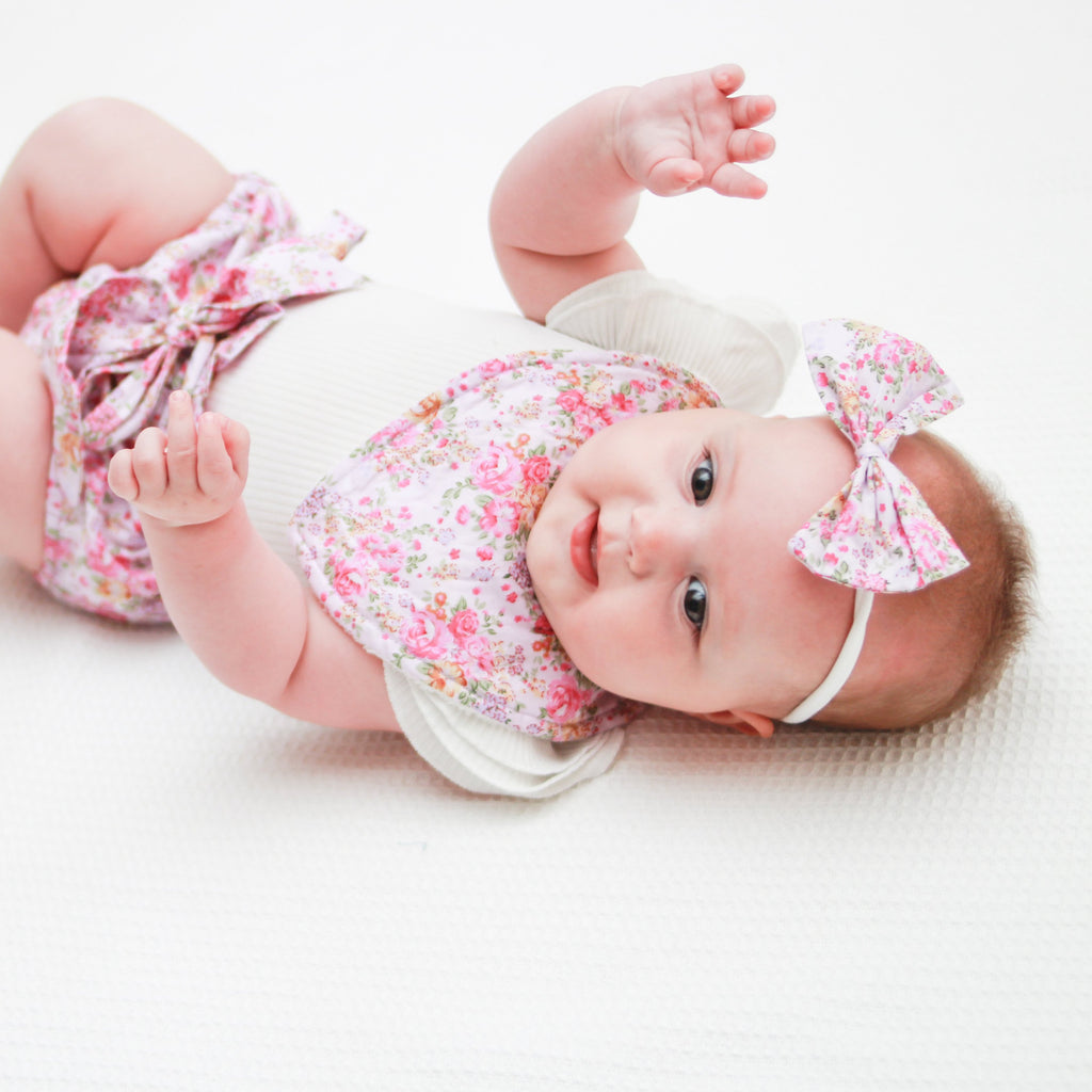 High Waisted Bloomers + Bib & Headband Set - Bella