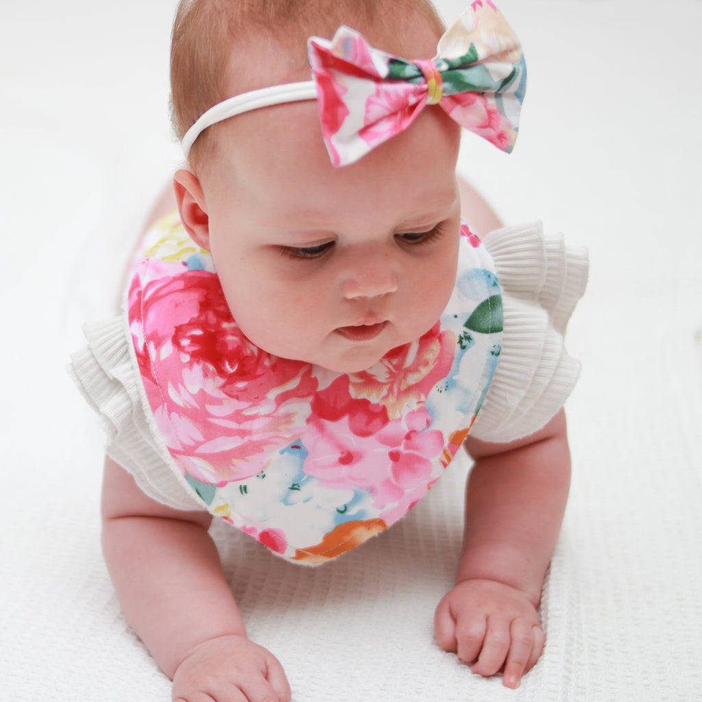 High Waisted Bloomers + Bib & Headband Set - Sasha