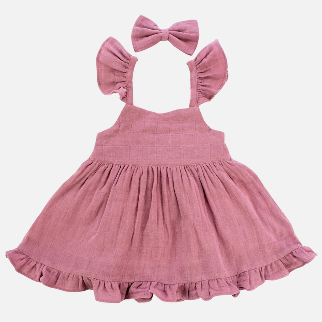 Muslin Sweetheart Dress - French Rose