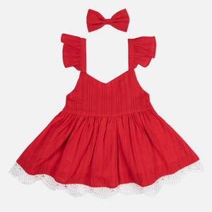 Sweetheart Dress - Red Noella