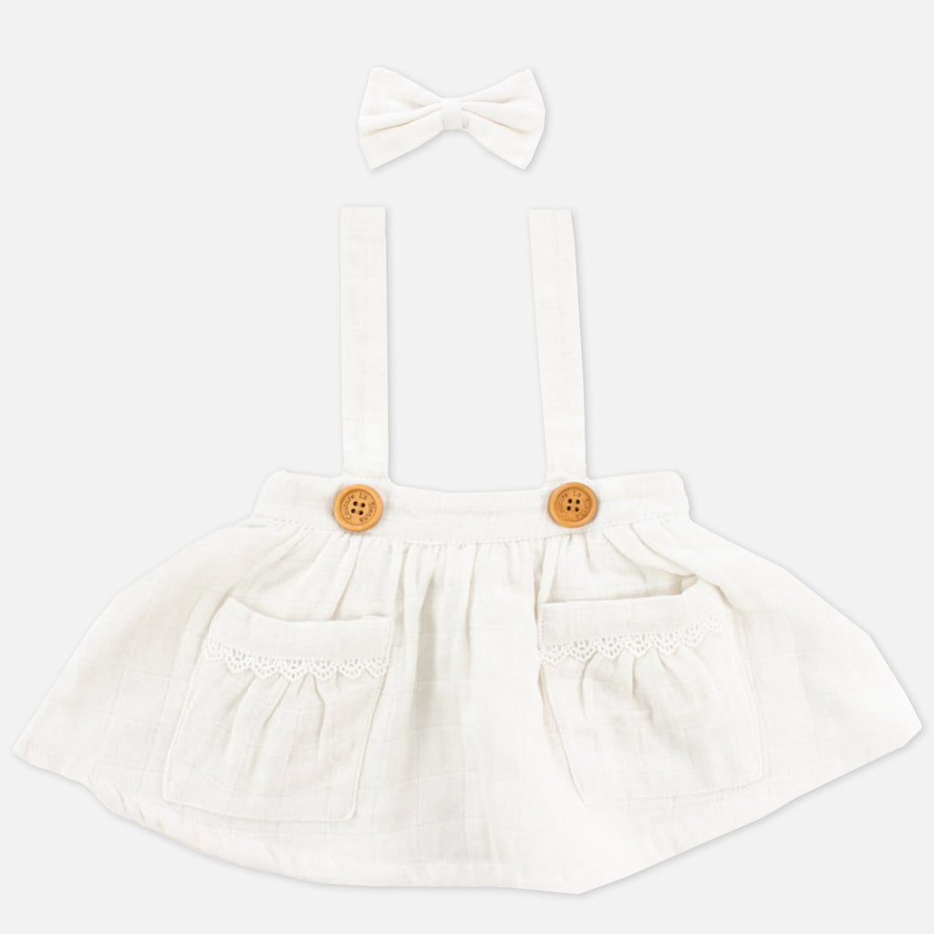 Muslin Suspender Skirt - Coconut