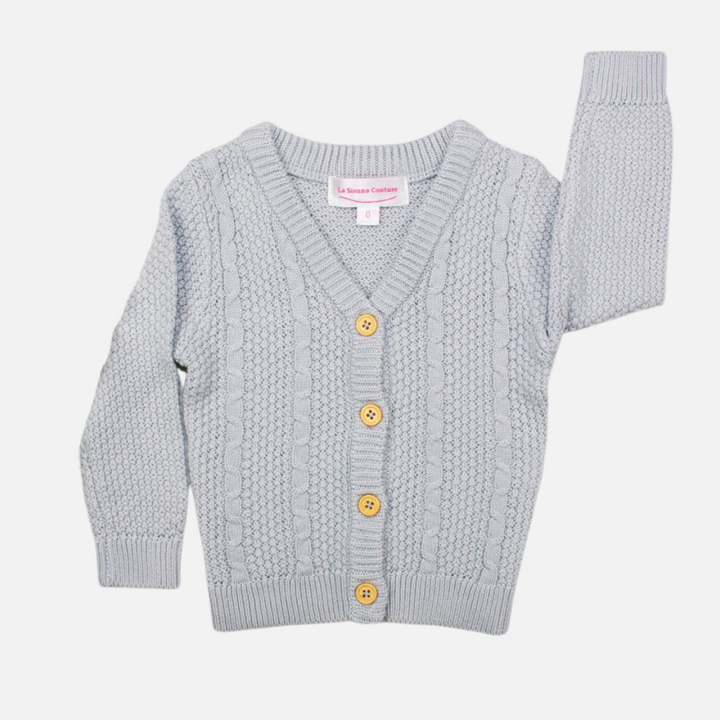 Knitted Cardigan - Grey