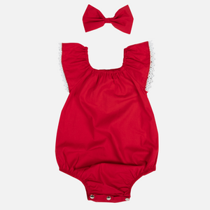 Sunsuit Romper - Red