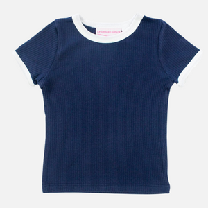 Cozy Two-Tone Tee - Navy