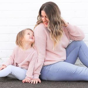 Mummy Chunky Knit - Rose Quartz