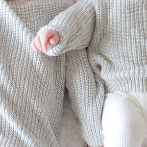 Chunky Knit - Cloud Grey