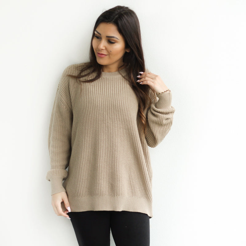 Mummy Chunky Knit - Almond