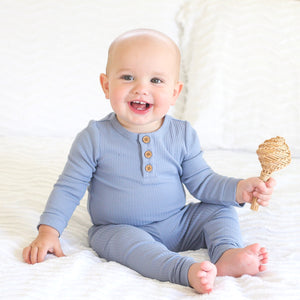 Cozy Long Sleeve Bodysuit/Top - Marine