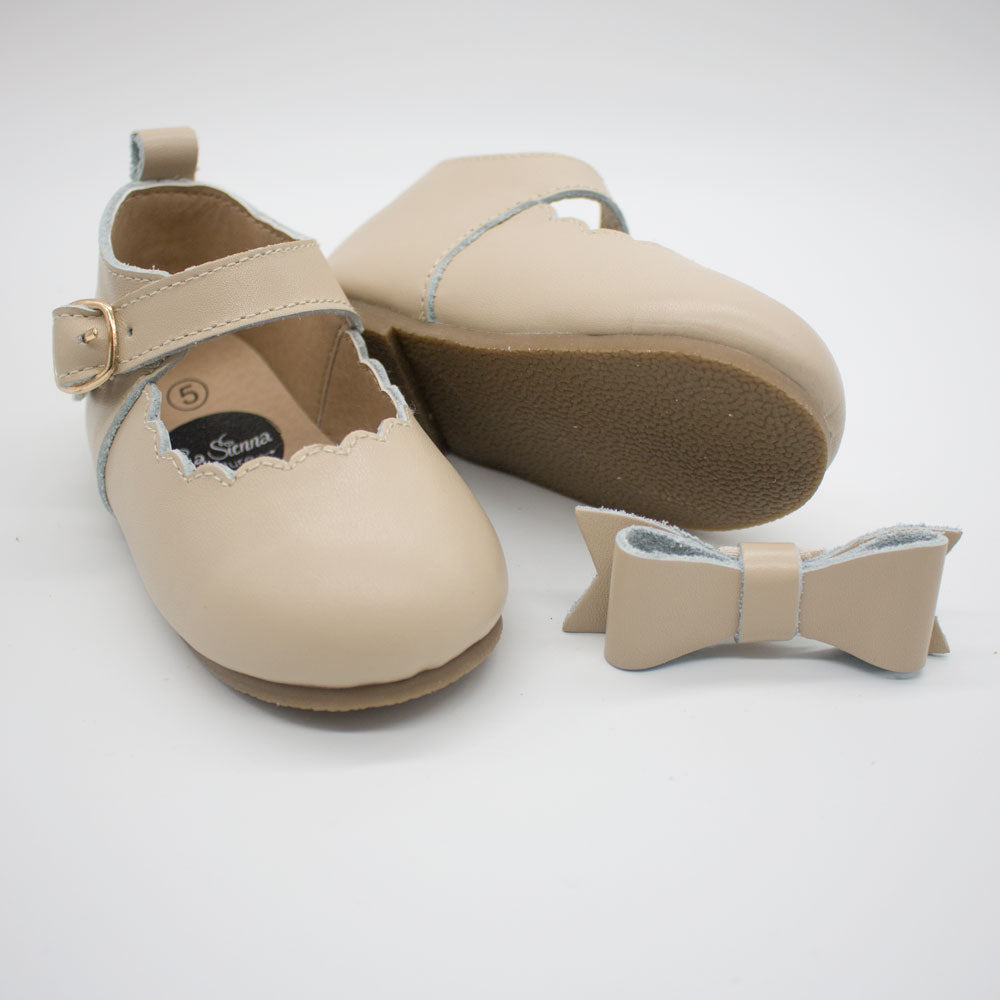 Mary Jane Shoes - Beige