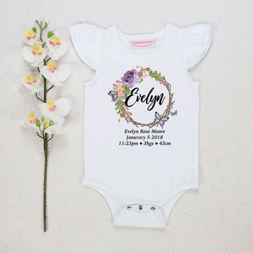 Butterfly Birth Announcement - Custom