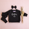 Personalised Crew Neck & Leggings - Black