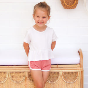 Cozy Two Tone Shorts - Burnt Rose