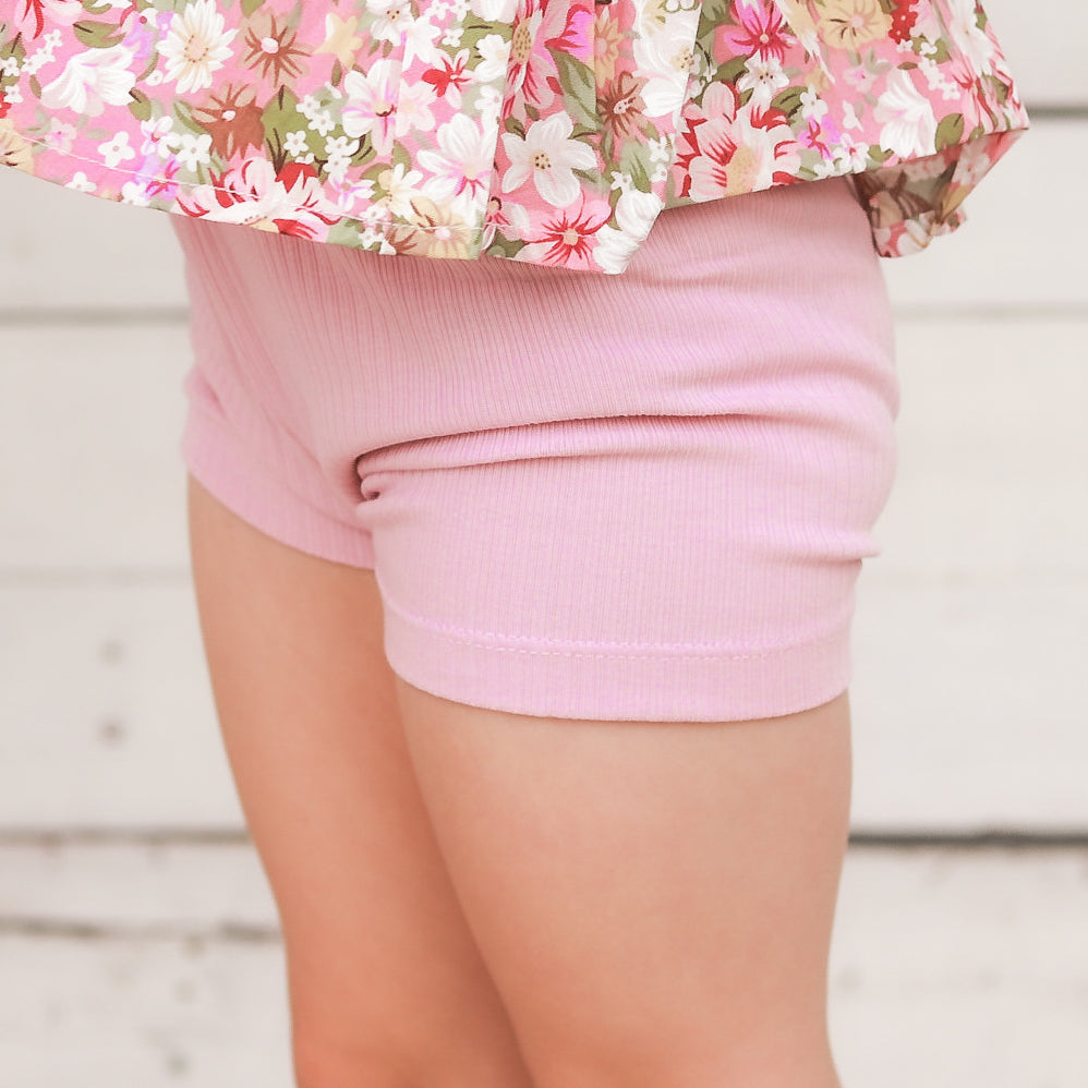Cozy Bike Shorts - Tulip