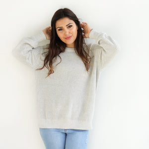 Mummy Chunky Knit - Cloud Grey