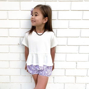 Cozy Ruffle Top - Coconut Milk