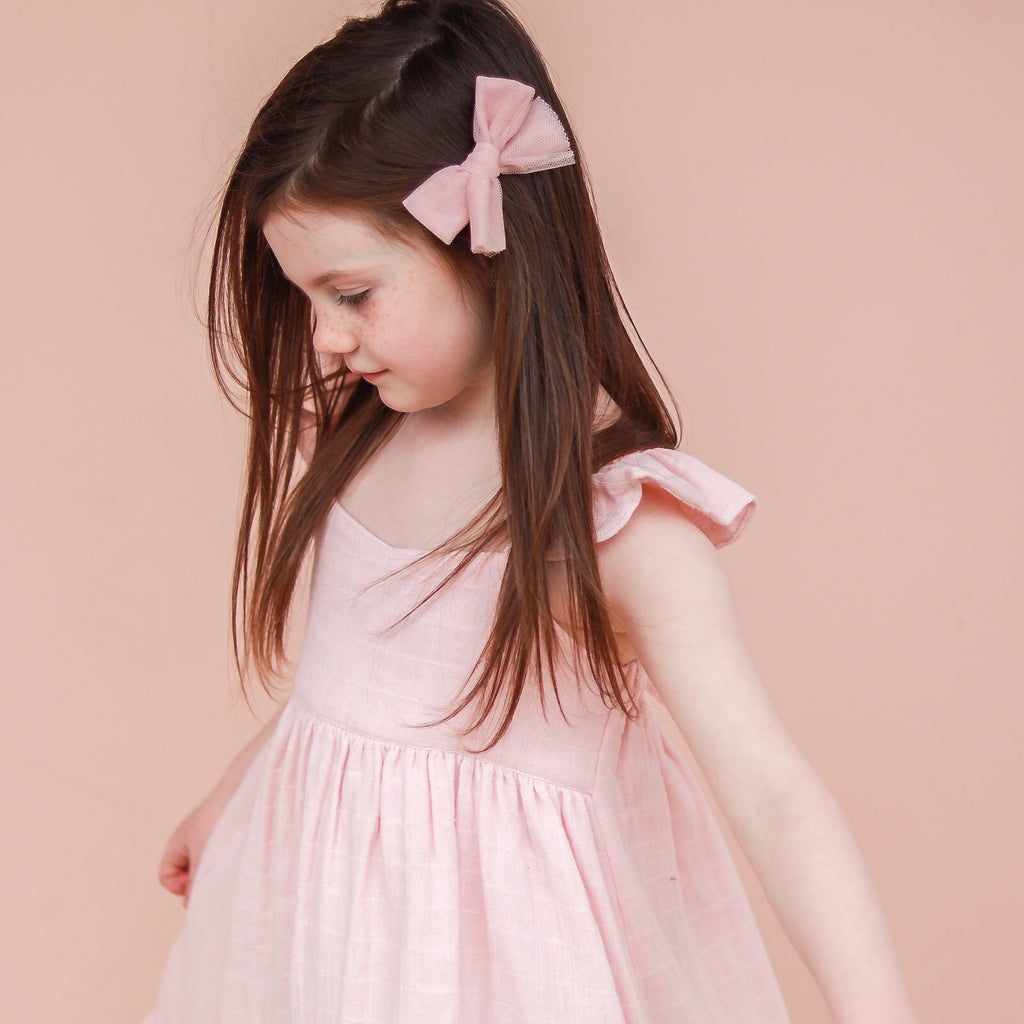 Muslin Sweetheart Dress - Peach Blossom
