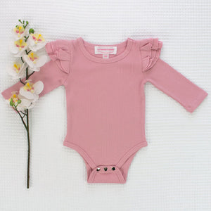 Cozy Long Sleeve Flutter - Parisian Pink