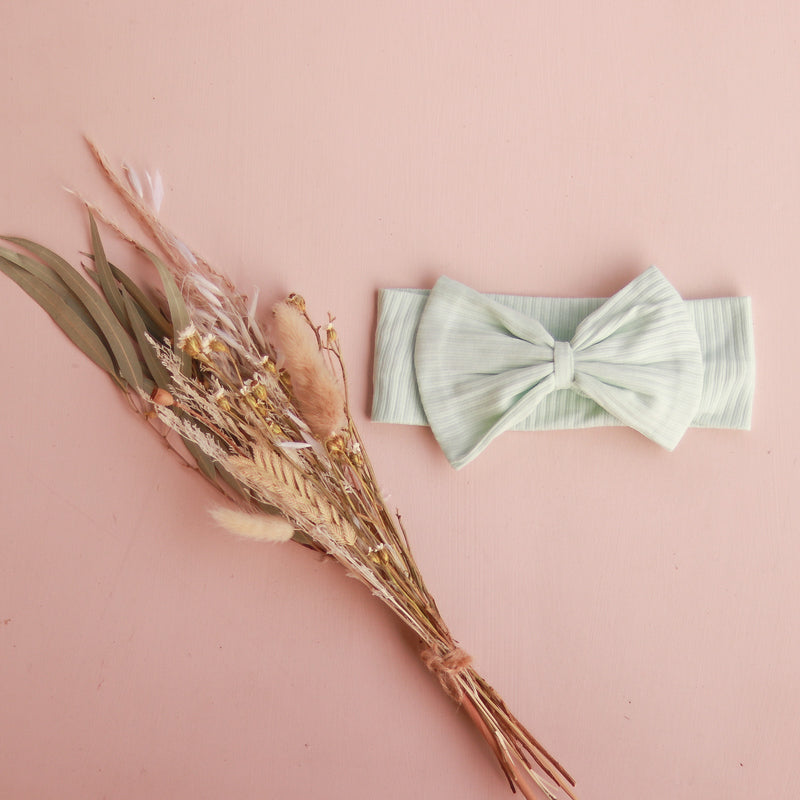 Cozy Stretchy Bow Headband - Mint Glaze