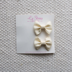 Petite Bows - Ivory